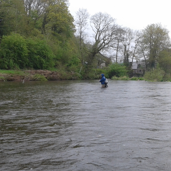 It rains often during a Welsh spring but there's some great fishing to be had - crack on!