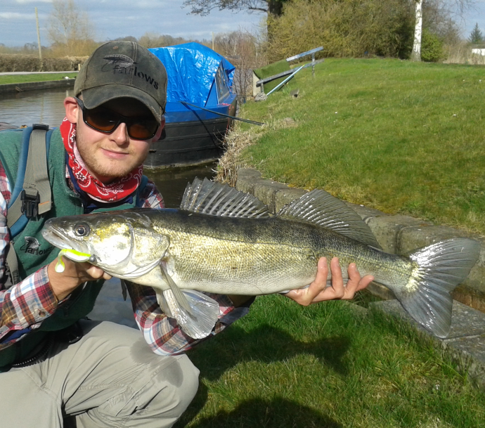My biggest ever Zander, taken with my first cast of the 4-Play Pro Shad