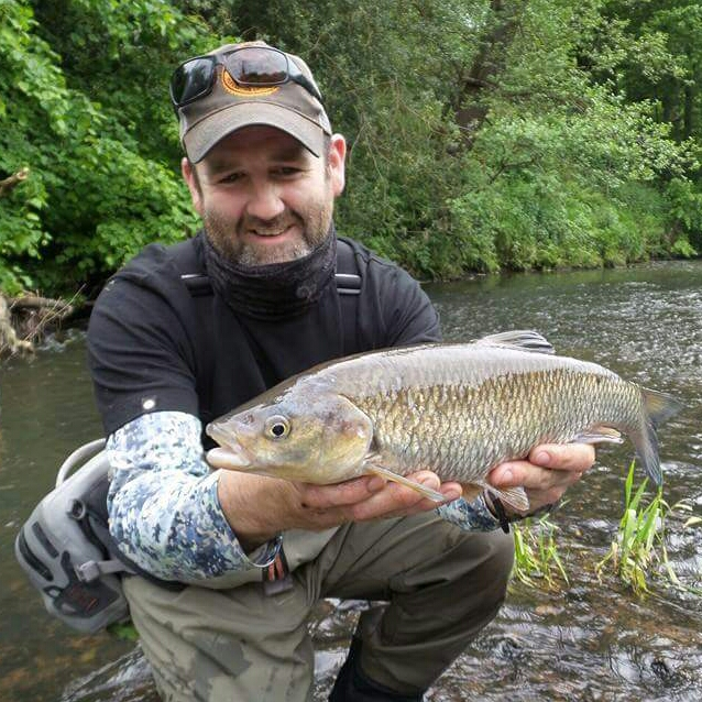 Glen's big chub on a dry heralded the start of a new adventure