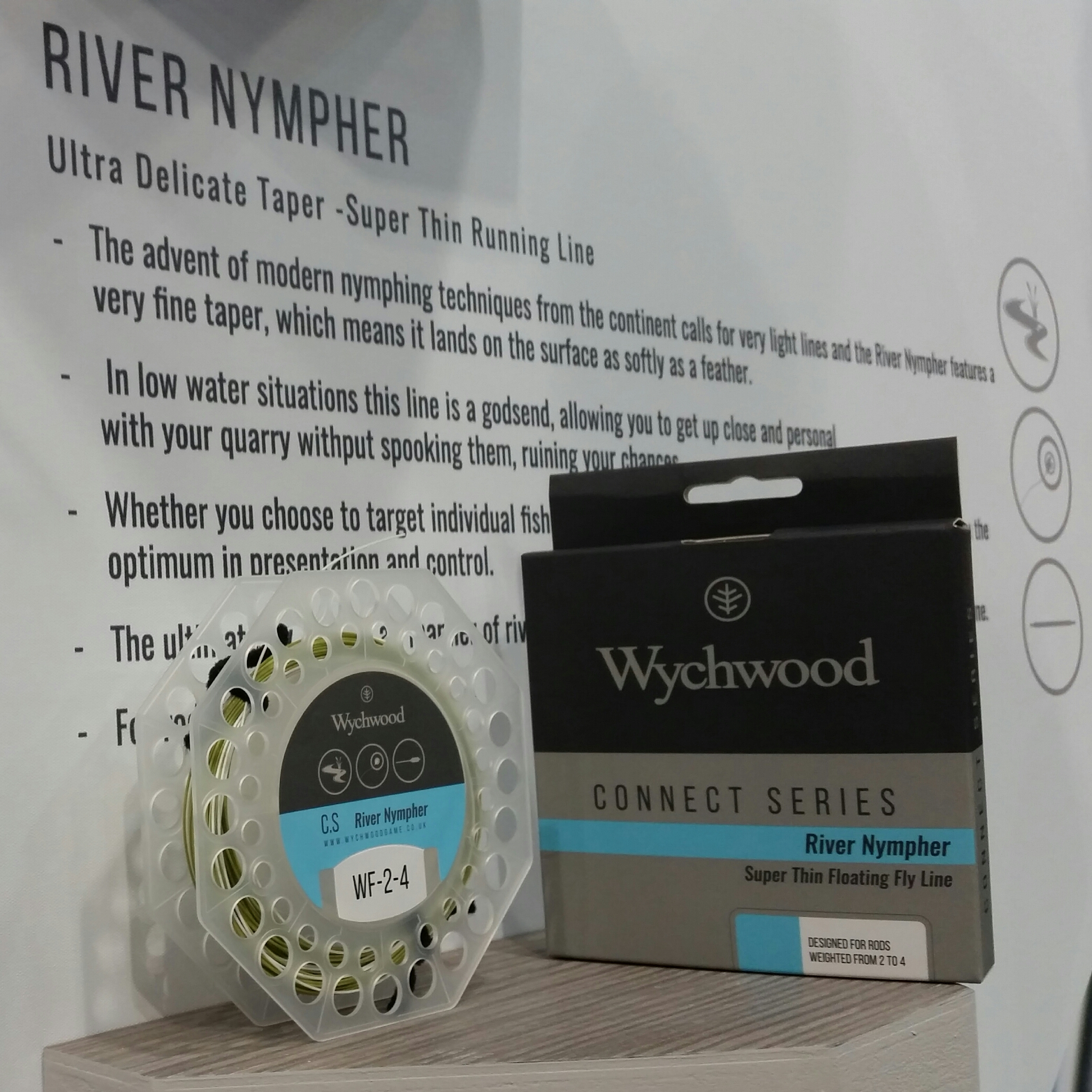 Wychwood Connect Series River Nympher Super Thin Running Fly Fishing Line