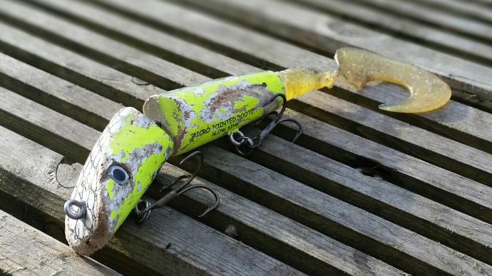 Fox pike spinning lure fishing