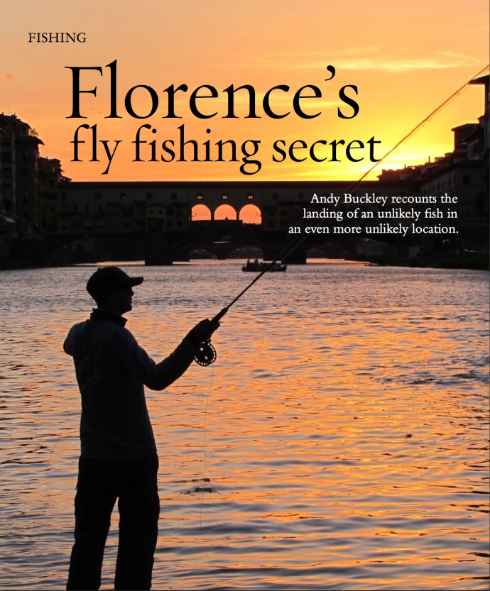 Florence Italy fishing wels catfish fly