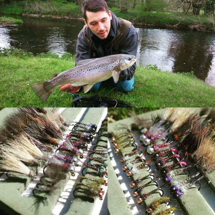 custom fly tying trout grayling